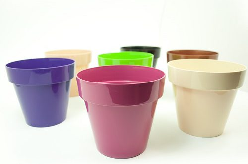بهترین گلدان پلاستیکی باغچه