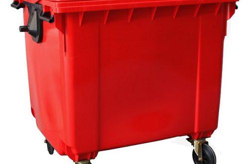 سطل زباله پلاستیکی مکانیزه بیمارستانی